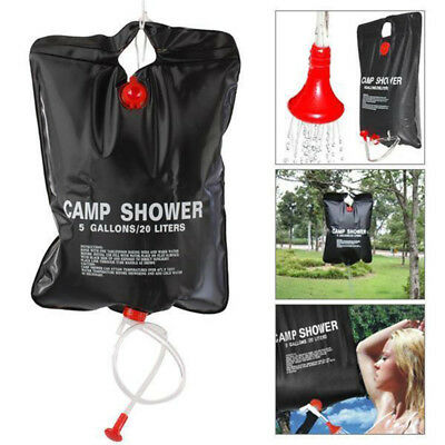 20L Solar Heated Shower Bathing Water Bag Outdoor Camping Foldable PVC Reserve X