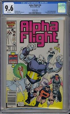 Alpha Flight #36 CGC 9.6 NM+ Wp 1986 Marvel Canadian Price Variant Avengers App