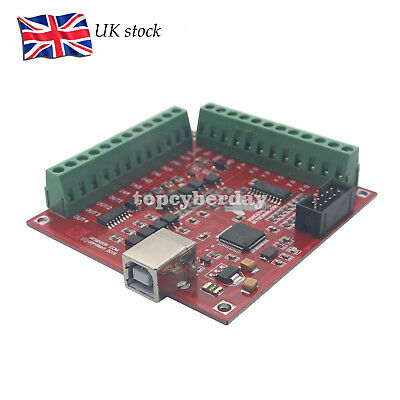 CNC USB MACH3 100Khz Breakout Board 4-Axis Driver Motion Controller UK