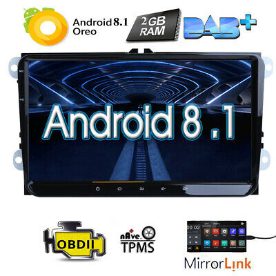 "9"" Android 7.1 Car Stereo GPS Sat Nav for VW Transporter T5 Passat B6 Skoda Seat"