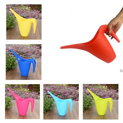 1L Durable Plastic Watering Can Long Spout Flower Garden Tools Stylish Handy