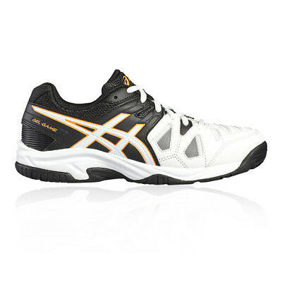 Asics Junior Gel-Game 5 GS Tennis Shoes Black White Sports Breathable