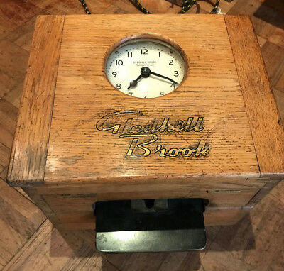 Gledhill Brook Time Recorder (Clocking in Clock) Working Electric Clock