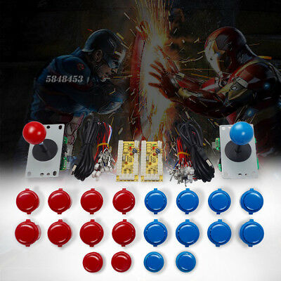Arcade DIY Parts for 2 Players with Joysticks Buttons Zero delay USB Enocders US