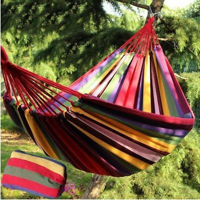 Rope Hanging Hammock Swing Fabric Bed Portable Camping Hiking Outdoor Sleep Bed