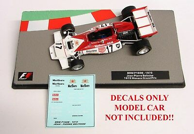 DECALS BRM P160B Jean-Pierre Beltoise 1972 Monaco 1:43 Formula 1 Car Collection