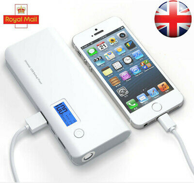50000mAh 2-USB Battery Charger Portable Mobile Power Bank For iPad Huawei iPhone