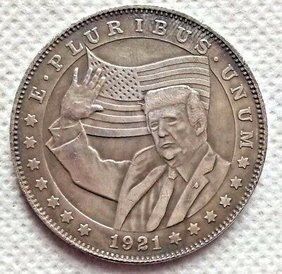 Hobo Nickel Coin 1921-D Morgan Dollar Donald Trump COIN