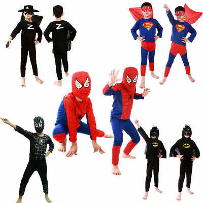 Boys Girls Kids Costume Set Halloween Party Fancy Dress Up Superhero Cosplay