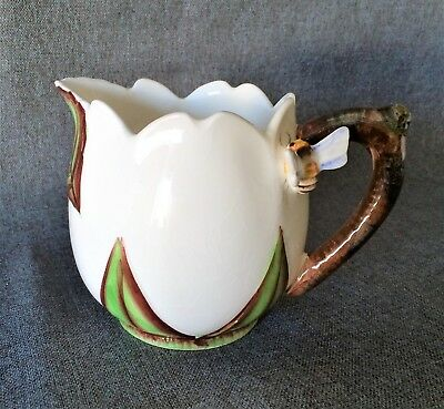 Vintage ESD Lefton Hand Painted Small Pitcher with Bumble Bee