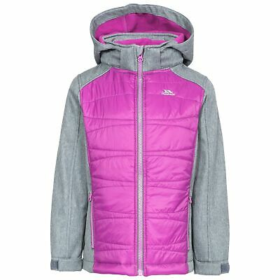 Trespass Rockrose Girls School Soft Shell Jacket with Hood with 2 Pockets