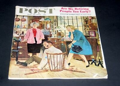Saturday Evening Post June 20 1959 Broken Antique Chair