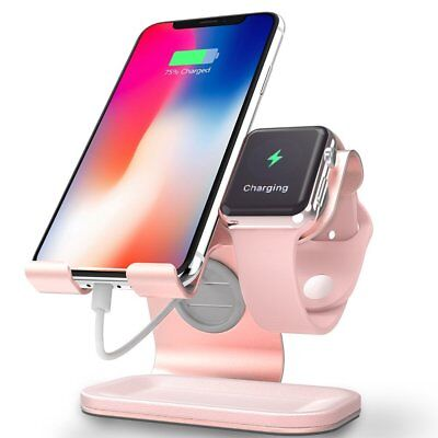 Cell Phone Stand & Apple Watch Stand & Tablet Stand, ZVE 2 in 1 Phone Stand