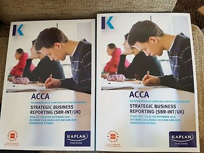 KAPLAN ACCA STRATEGIC Business Reporting (Sbr) Study Text And Exam Kit  18-19 P2