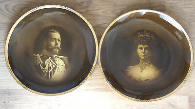 Antique England Ridgways two king george and queen  Plates C1910 Rare