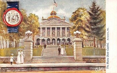 (928) Vintage Postcard of The Maine State Capitol Building