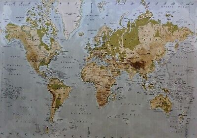 Extra large world map canvas only 50 x 28 inch 4000 ikea premiar world map on canvas 200 cm x 140 cm wall map gumiabroncs Choice Image