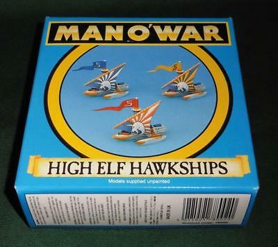 OOP Citadel GW Man O' War metal painted High Elf Hawkship Squadron 3 models (A)