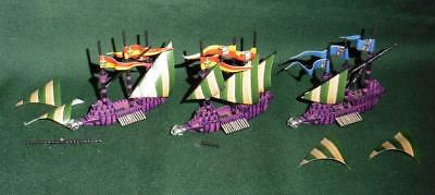 OOP Citadel GW Man O' War metal painted Empire Wolfship Squadron of 3 models.