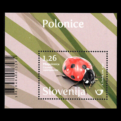 """Slovenia 2017 - Fauna """"Ladybirds"""" Insects s/s - MNH"""