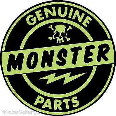 Genuine Monster Parts Sticker Decal by Artist Kruse RK8 Roth Like
