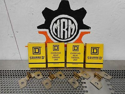 Square D C34 Overload Relay Thermal Units New Old Stock (Lot of 4)