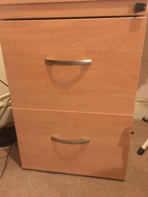 two drawer lockable wooden filing cabinet beech laminate w/ dividers two drawer lockable filing cabinet