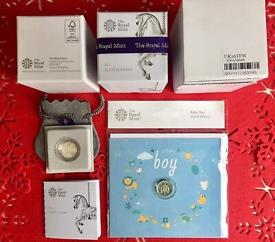 The Royal Mint 2016 Baby Tooth Fairy Box & 2018 Baby Boy Silver Penny #2