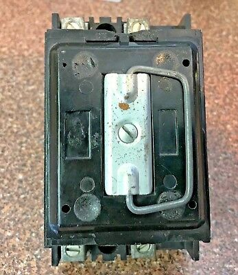 Federal Pacific 30 Amp Main Fuse Holder Pull Out With Block and Fuses