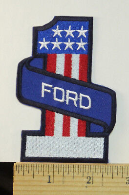 """Vintage Ford  #1  Iron-On Embroidered Patch, 4x2.5"""""""