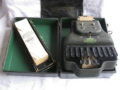 1940's STENOTYPE (LaSalle Master Model Four) w/ BOX & PAPER (SHIPS FREE 2 US!)