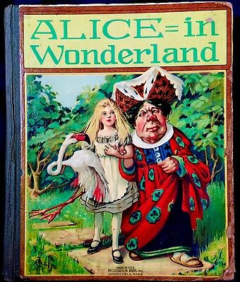 ALICE IN WONDERLAND & LOOKING GLASS~ Carroll ~ Antique Victorian Book Mcloughlin