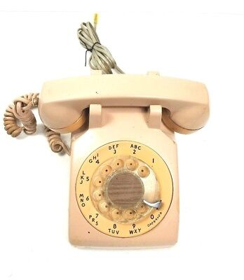 Vintage Rotary Telephone ITT PAC-TEL c.1971 Excellent Working Condition Beige