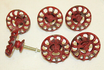NEW Distressed Metal Faucet Valve Handle Cabinet Door Knob Steampunk Red lot 6