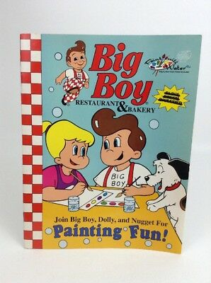 Vintage 1996 Big Boy Restaurant Painting Fun Coloring Activity Book - New