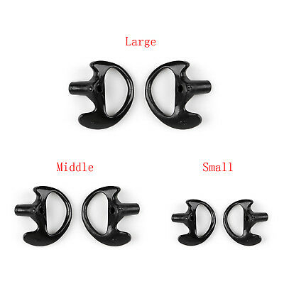 3Pair L M S Silicone Soft Earplug Earbud For Covert Acoustic Tube Earpiece Wt T2