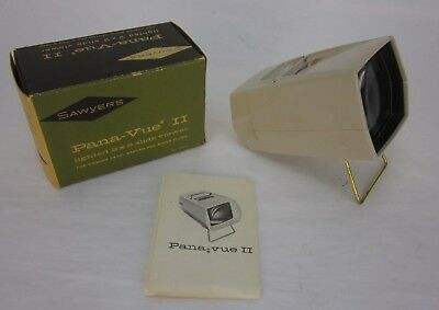 Vintage Sawyer's Pana-Vue II Lighted 2x2 Slide Viewer in Original Box