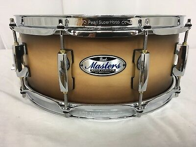 """Pearl Masters Complete MCT 14"""" X 5.5"""" Snare Drum/#351/Satin Natural Burst/New"""