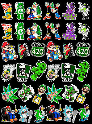 36 Weed Marijuana Cannabis Vinyl Stickers