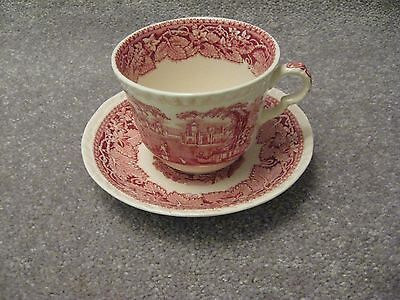 Mason's Patent Ironstone Vista - Over-sized Cup and Saucer - Pink