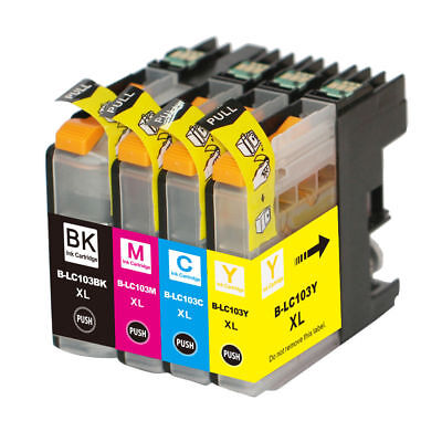 4 Non-Oem Ink Brother Lc-103 Xl Lc101 Mfc-J4610Dw Mfc-J470Dw Mfc-J4710Dw J475Dw