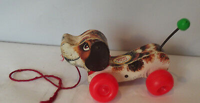 Vintage Fisher Price Little Snoopy Dog Pull Toy 1968