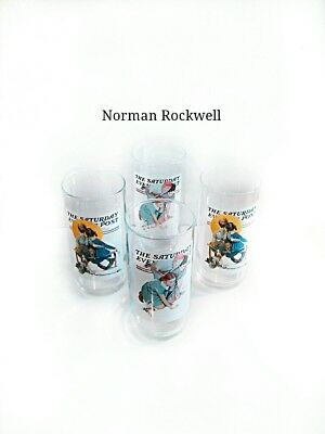Norman Rockwell Saturday Evening Post Glasses