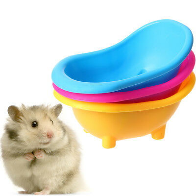 Mini Hamster Gerbils Bathtub Small Pets Bath Sand Room Bathroom Bathing Case