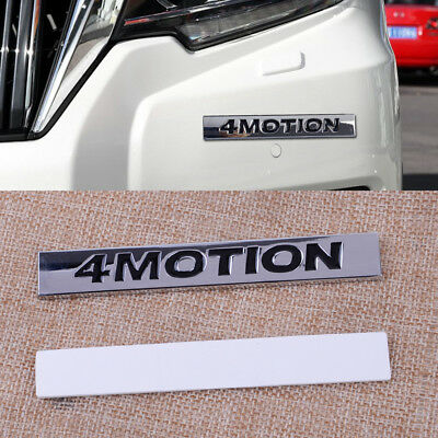 4MOTION Car Metal Emblem 3D Badge Sticker Decal Chrome Plated Trunk with tape