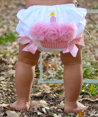 Canis Toddler Infant Baby Girl Flower Ruffle Cupcake Diaper Cover Bloomer Shorts