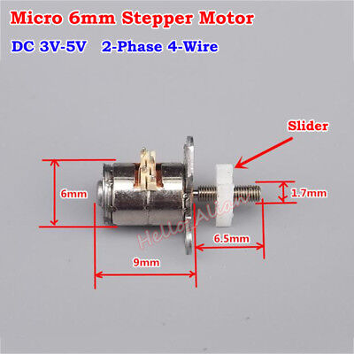 DC 3V-5V 6mm Stepping Stepper Motor 2-phase 4-wire Linear Screw Moving Slider