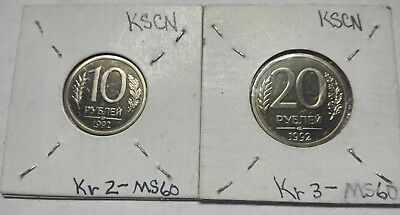 Russia 10 & 20 Roubles Proof Coin Collection Inv#3364