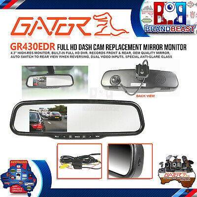 Gator Gr430Edr Oem Replacement Hd Lcd Mirror Reversing Camera With Built In Dvr