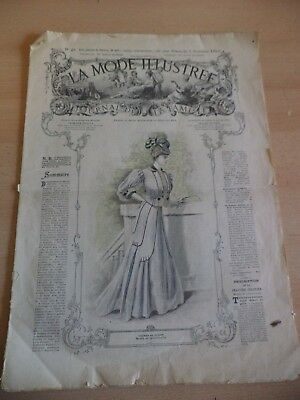 Le Mode Illustree Old Antique 1900S French Fashion Magazine 1906 Clothing Crafts
